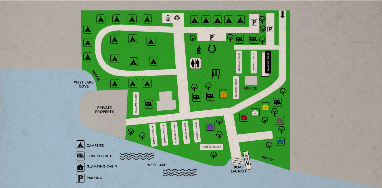 Campground layout map
