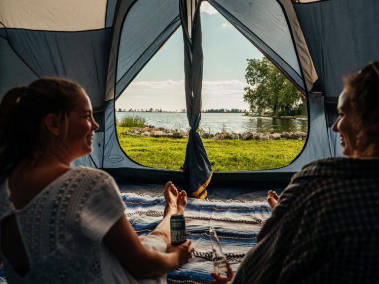 Lakeside camping spot